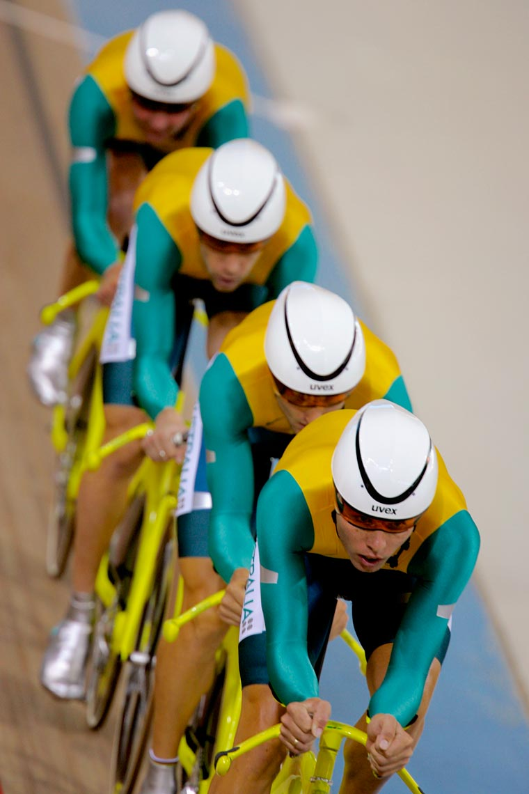 Australian Team Pursuit Gold Medal Cyclists, Athens Olympics