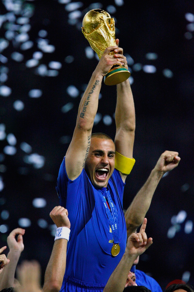 Italy Captain Fabio Cannavaro Hoists the World Cup, Berlin