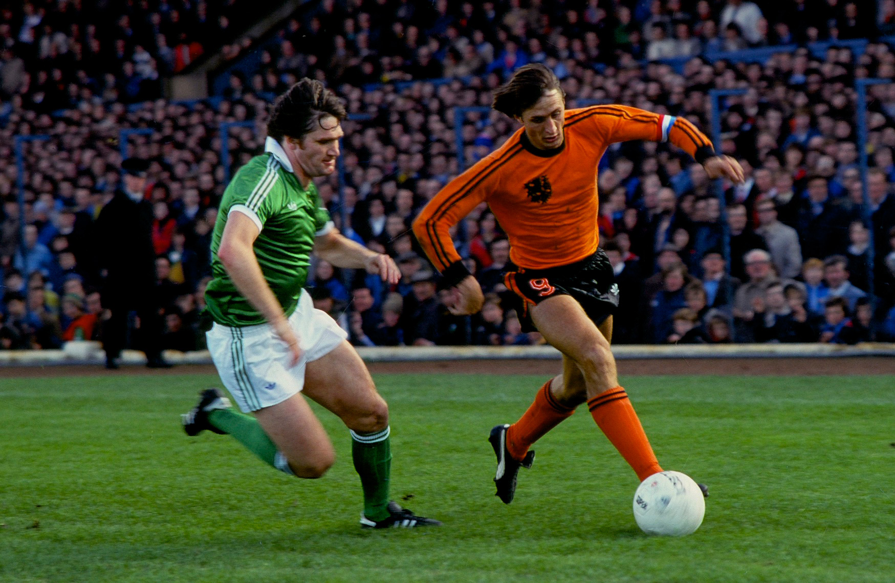 Johan Cruyff, Holland v. Northern Ireland, Windsor Park, Belfast