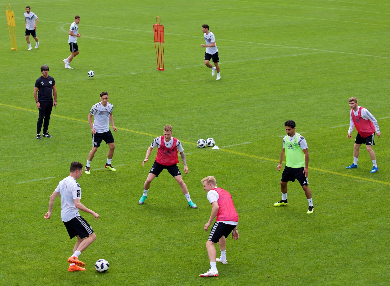 German National Team training at the Rungg Training Center for the 2018 World Cup in Russia.