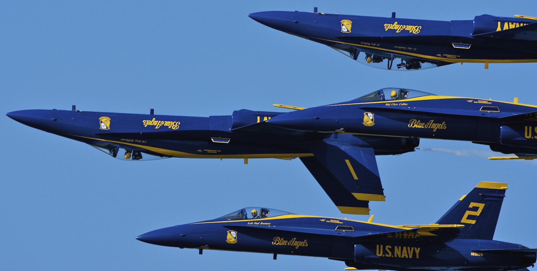 US Navy Blue Angels F-18 Hornets