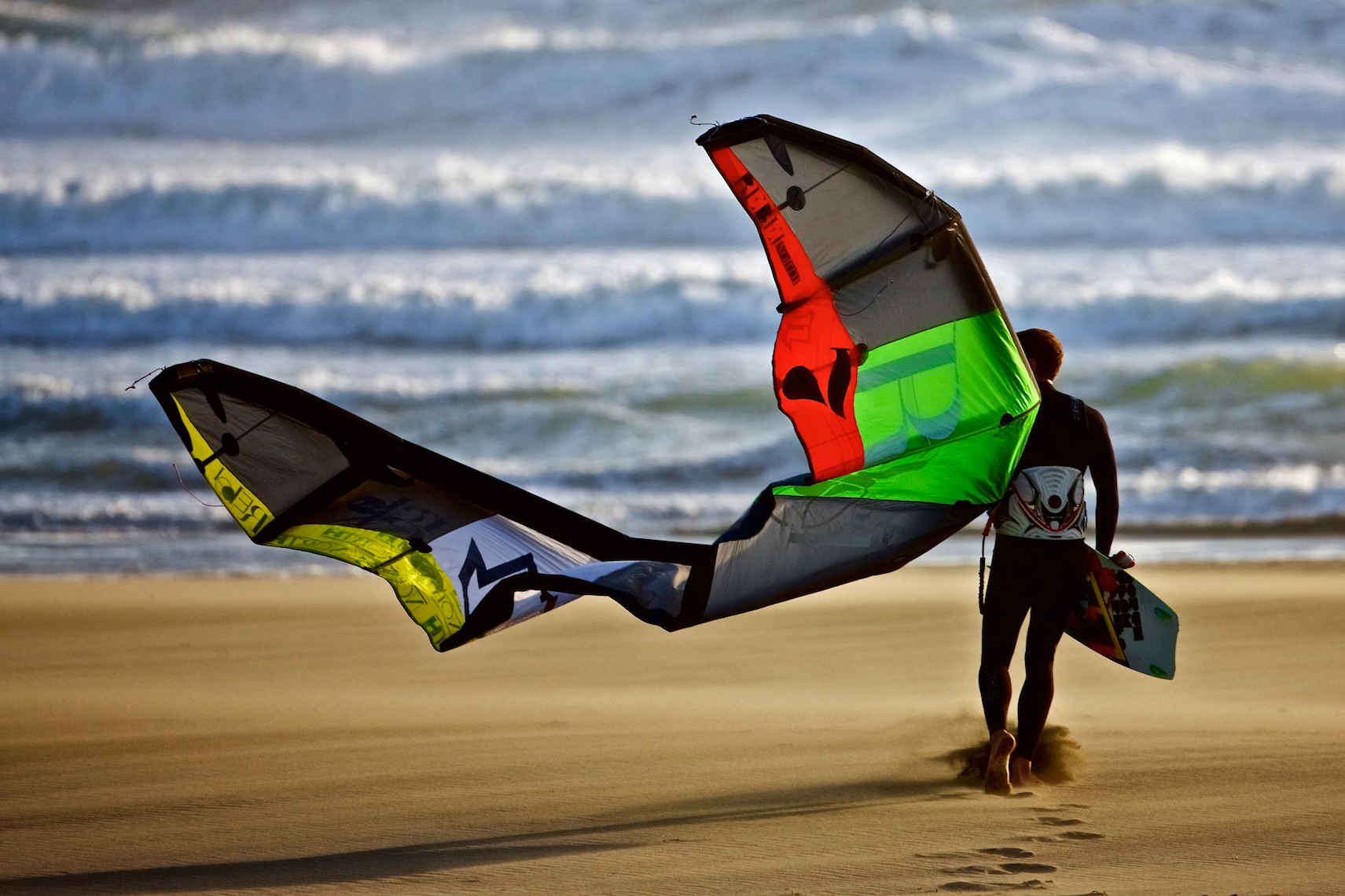 Kite Surfer, Ocean Beach, San Francisco