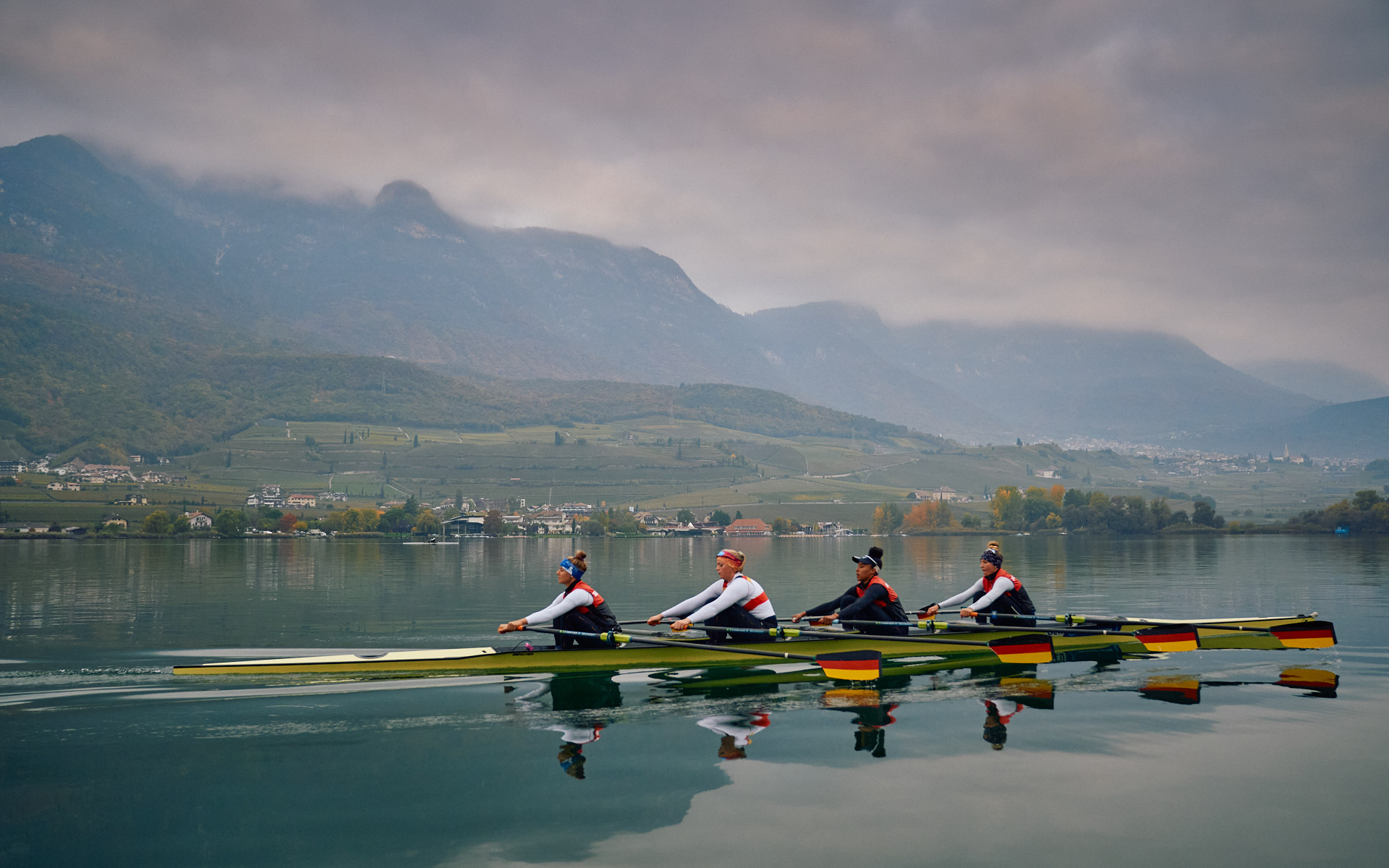 Germany Olympic Rowers Training in Italy