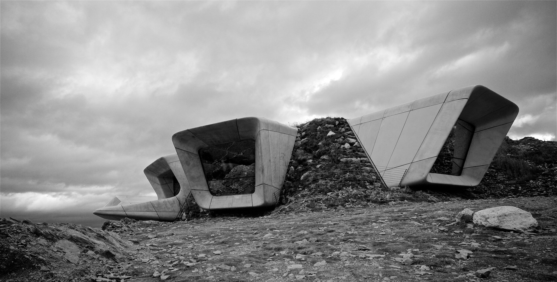 Messner Mountain Museum, Kronplatz. Architect: Zaha Hadid