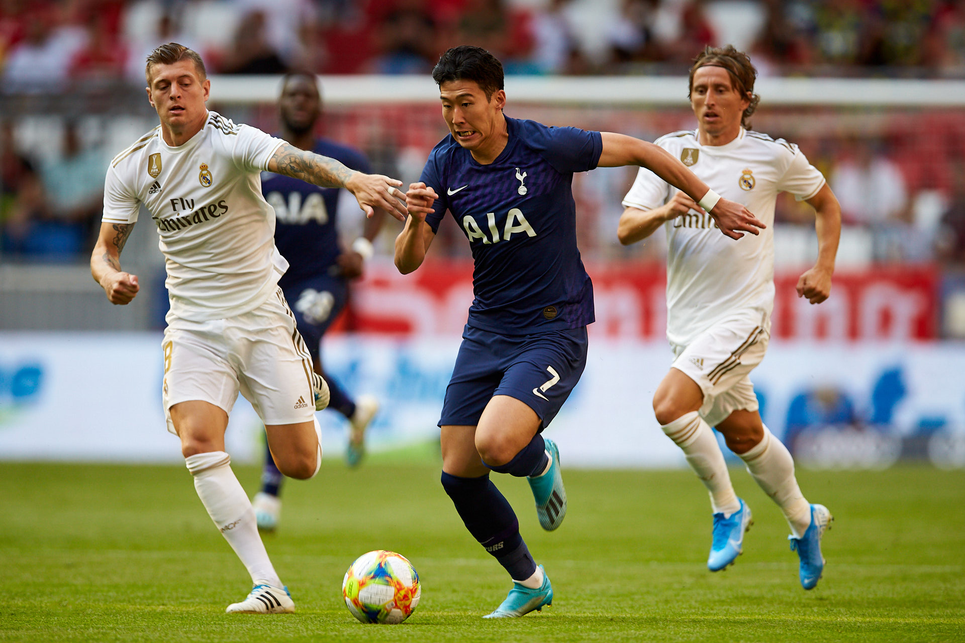 Son Heung-min, Tottenham Hotspur, and Toni Kroos and Luka Modrić, Real Madrid