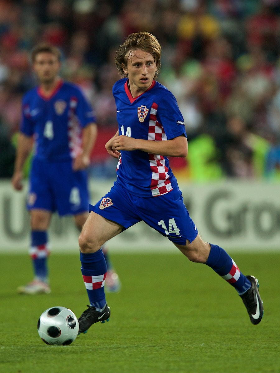 Luka Modrić in Action for Croatia