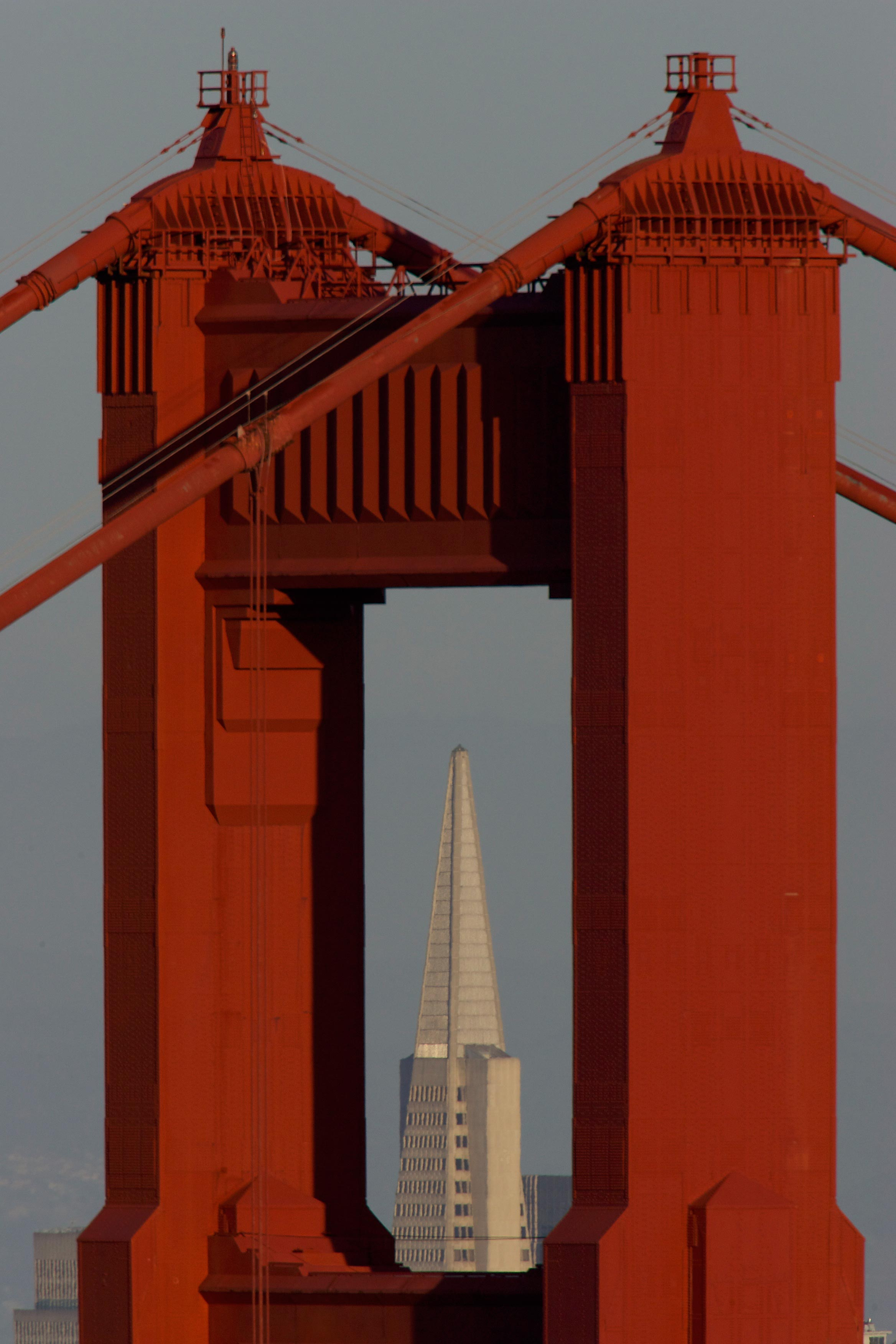 Golden Gate Bridge and Transamerica Pyramid